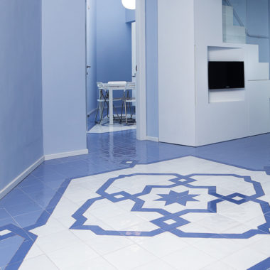 mavi ceramica pavimento